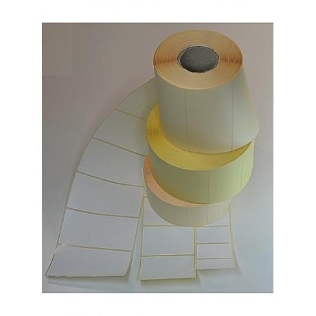 Etiketten weiss mit permanenten Kleber, Format 45mm*25mm 1.500 Etik. per Rolle