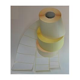 Etiketten weiss mit permanenten Kleber, Format 68mm*45mm 1.000 Etik. per Rolle