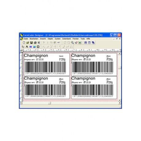 Formcoder grafische Barcode-Etikettensoftware