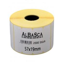 Thermo-Etiketten weiss selbstklebend 57*19mm 2000 Etik. Rolle