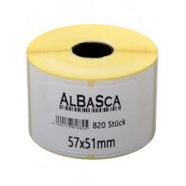 Etiketten Weiss 75*50mm selbstklebend 800 Etik. Rolle
