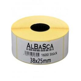Etiketten Weiss 38*25mm selbstklebend 1600 Etik. Rolle